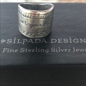 """Silpada """"Be True to Your Dreams"""" Ring"""